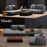 minotti allen sofa 3d model