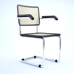 Marcel Breuer Cesca Chair With Armrests Unusual Occasional 3d Model