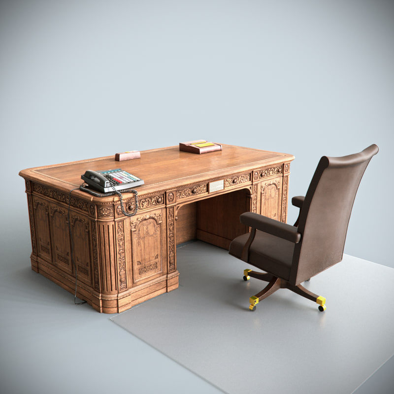 oval office chair chicco hook on president table 3d max