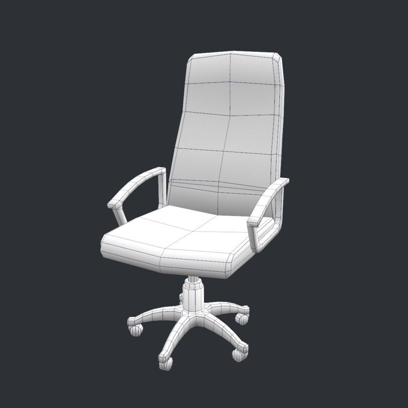 office chair 3d model bamboo dining chairs uk free