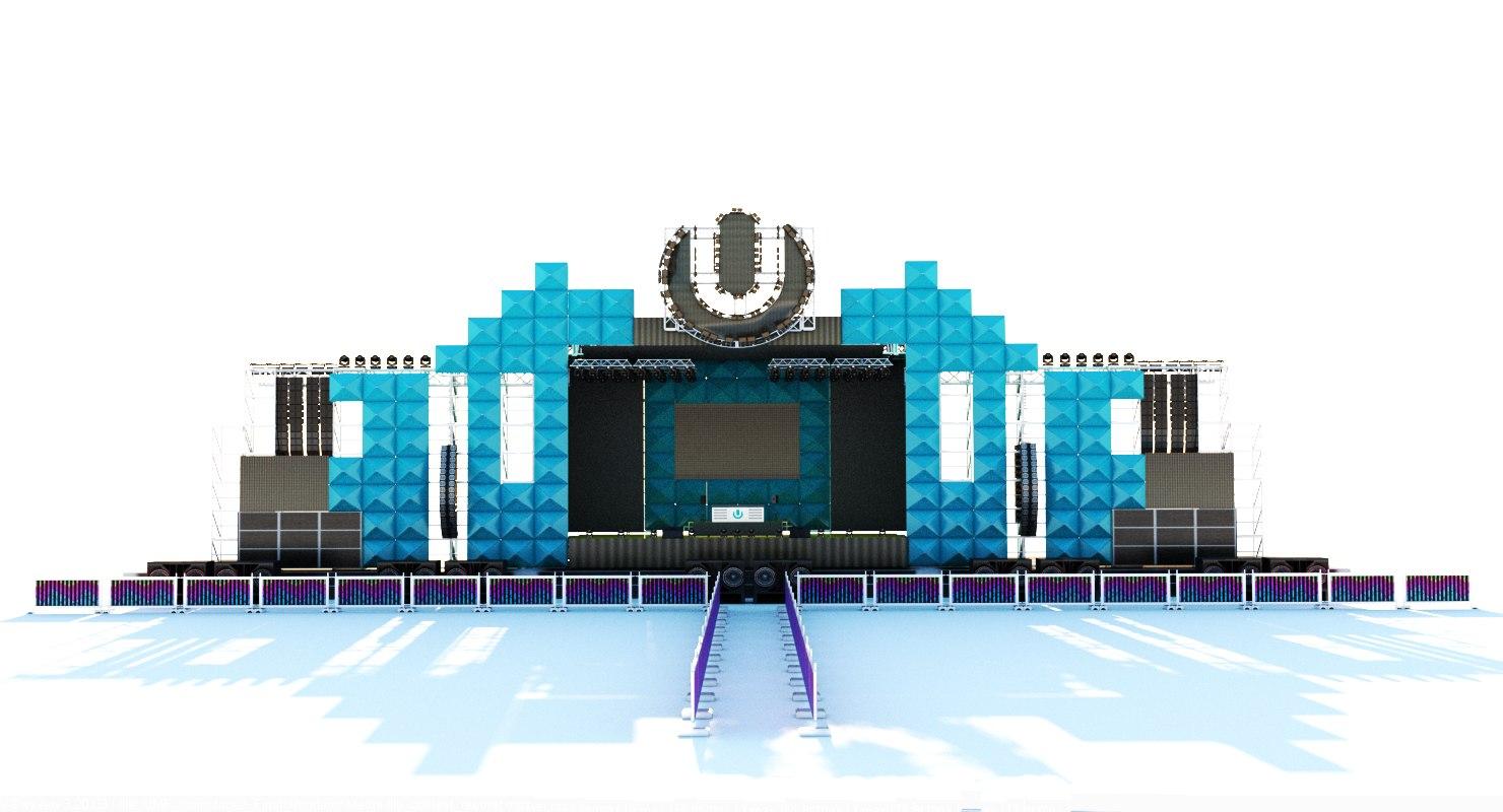 3d Umf Ultra Music Festival Main Model