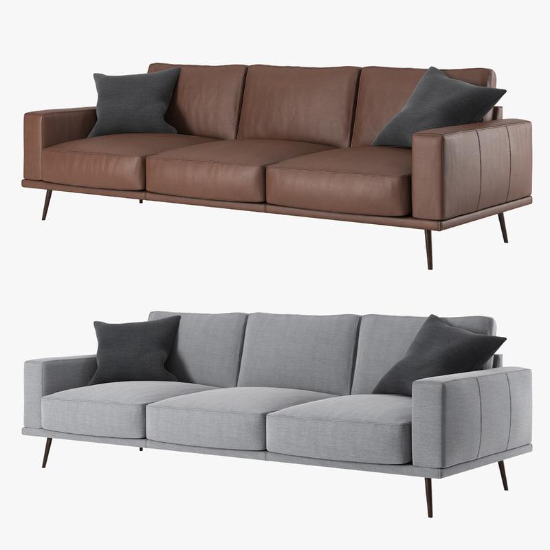 boconcept carlton sofa 3d model