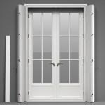 Double Glass Door With Shutters