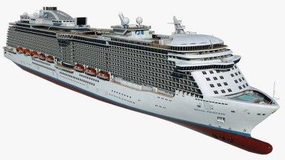cruise vessel regal princess 3d max