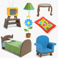 3D model cartoon furniture chair | 1144072 | TurboSquid
