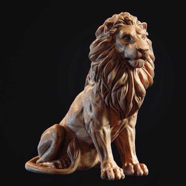 Lion 3D Model Sculpture