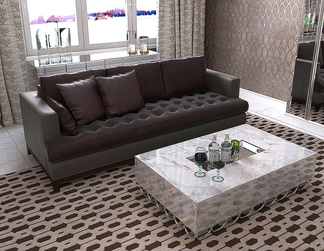 baker furniture max sofa wood legs bennet 6567s