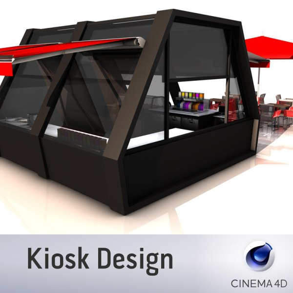 3d Model Kiosk Design Turbosquid 1244343 - Year of Clean Water