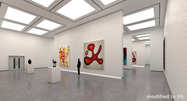 3D Art Museum Interior