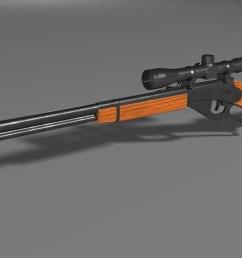 red ryder bb gun 3d [ 1422 x 800 Pixel ]