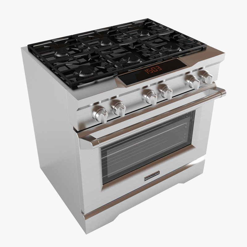 kitchen aid range custom islands for sale kdrs467vmw oven 3d model turbosquid 1257569