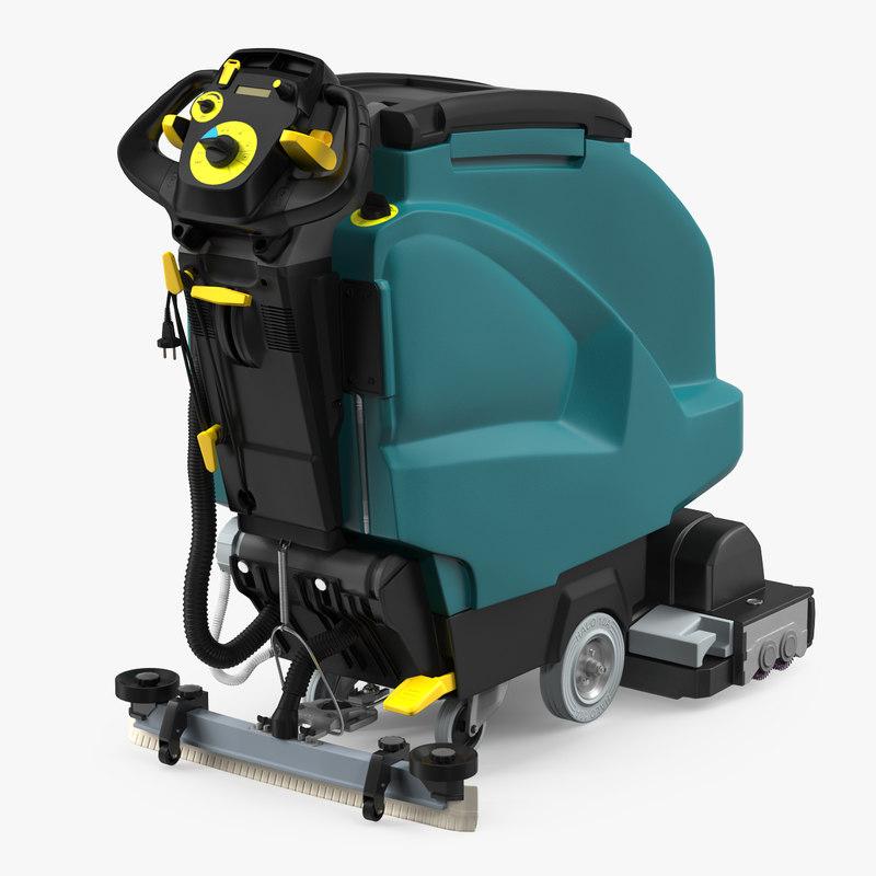 3D model industrial floor cleaning machine  TurboSquid