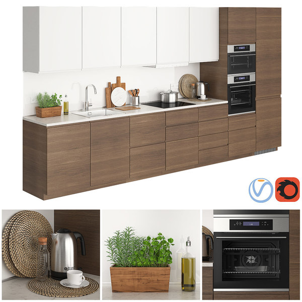 ikea metod voxtorp walnut