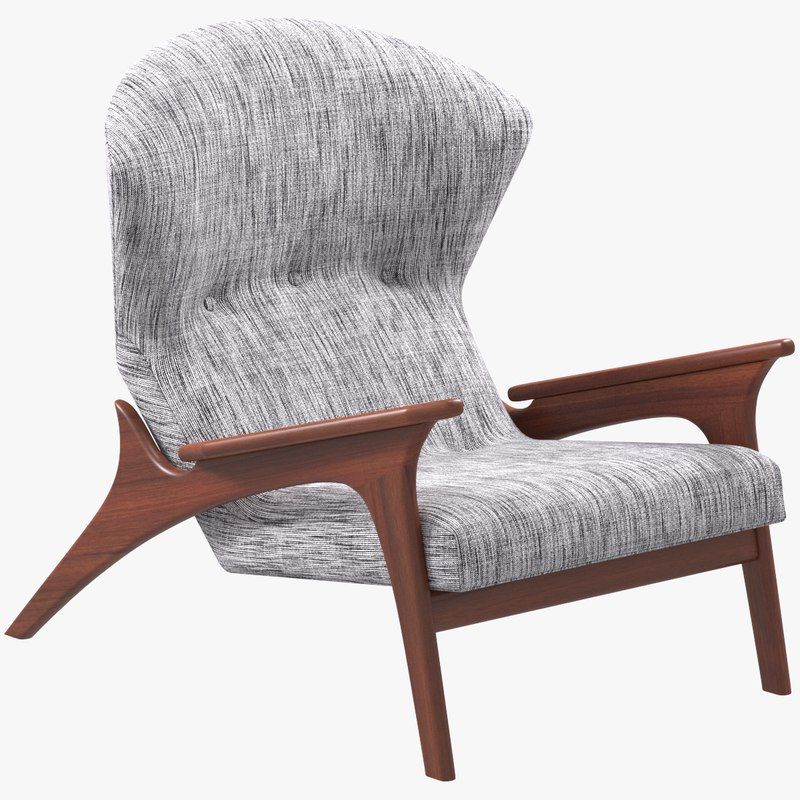 adrian pearsall lounge chair smith hawken adirondack chairs 3d turbosquid 1368883