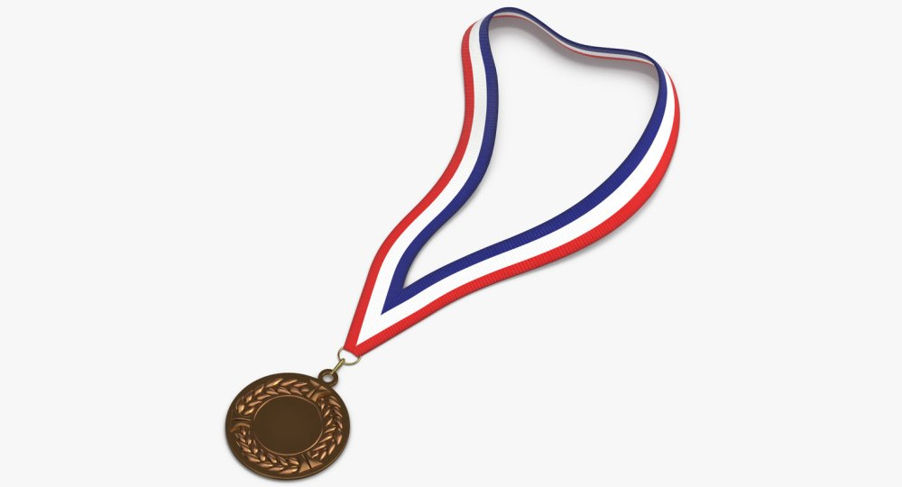 medium resolution of 3d model olympic style medal 01