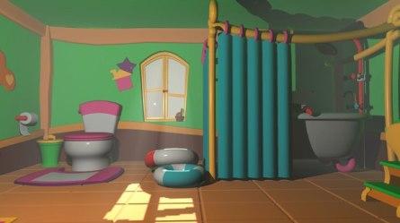 Bathroom cartoon asset 3D model TurboSquid 1384979