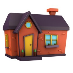 Cartoon house 3D model TurboSquid 1391423
