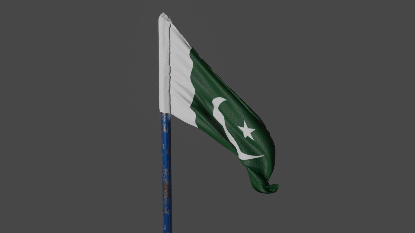 pakistan flag with animation