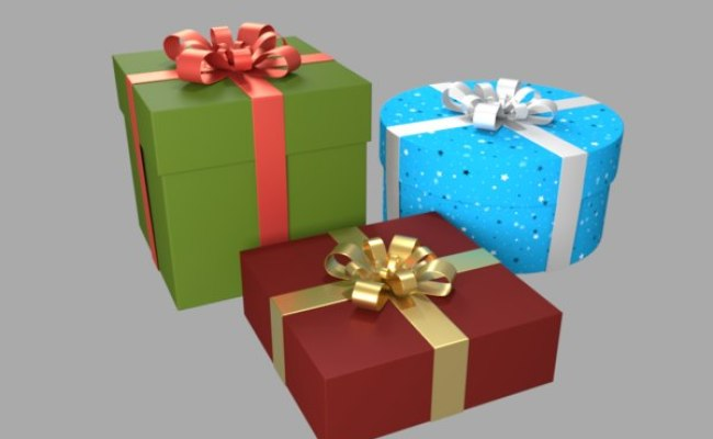 Gift Box Blender Models For Download Turbosquid