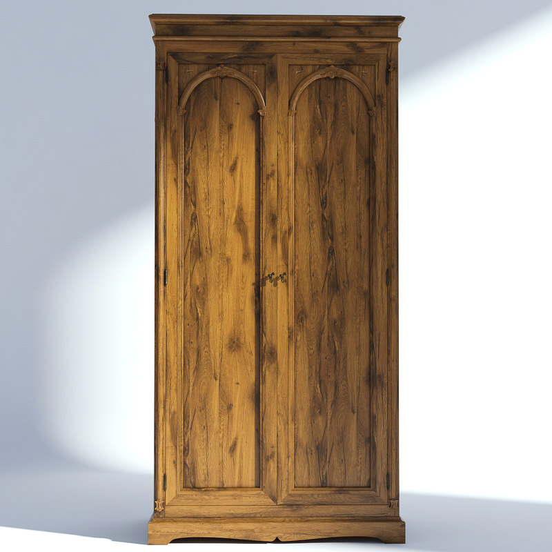 victorian wardrobe old natural