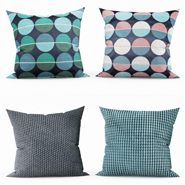 ikea decorative pillows 3d model turbosquid 1564114