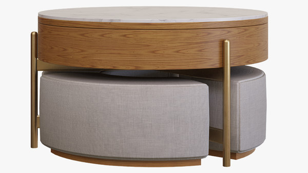 3d coffee table ottomans turbosquid 1579405