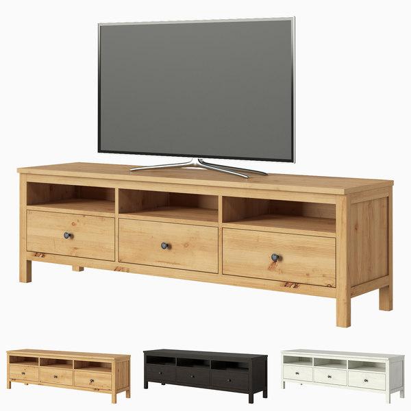 ikea hemnes tv unit 3d turbosquid 1597166