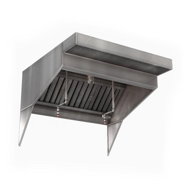 commercial kitchen exhaust hood model turbosquid 1625963
