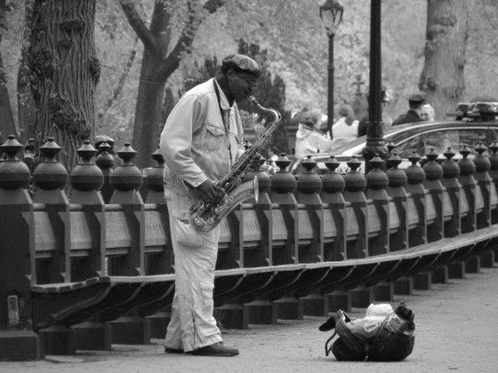 Sassofonista a Central Park  Viaggi vacanze e turismo Turisti per Caso
