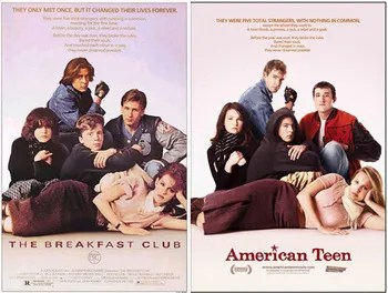 the breakfast club poster homage tv