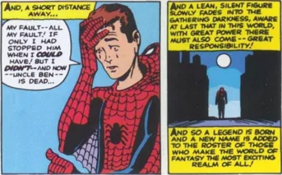 Image result for spider man great power responsibility