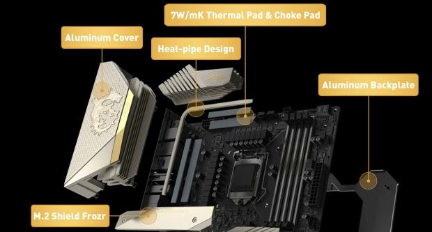 MSI MEG Z590 ACE Gold Edition has 24K gold heat sink, just because 07 | TweakTown.com