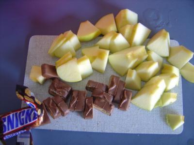 snickers-aepfel-geschnitten