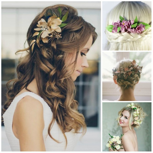 flowers hair style