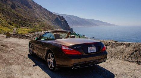 Roadtrip California Highway 1 Mercedes SL550