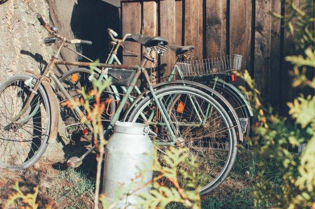 Unsere Fahrräder im Osten.