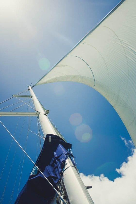 Seychellen Katamaran Segel