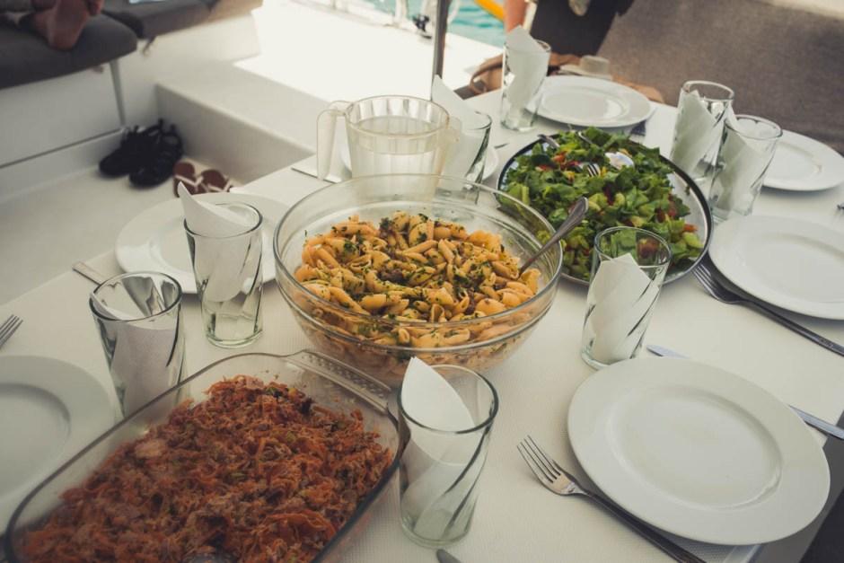 Seychellen Katamaran Lunch