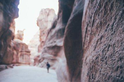 Der Siq in der Felsenstadt Petra