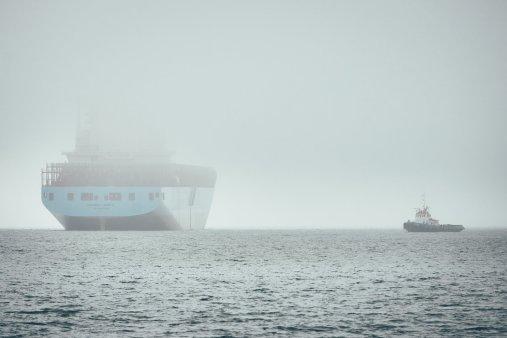 Schiff voraus