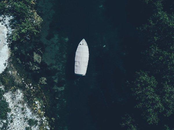 Boot aus Vogelperspektive