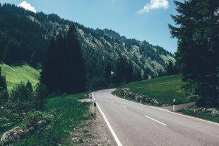 Passstrasse ins Allgäu