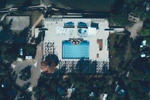 Wasserpark auf dem Campingplatz Lanterna in Istrien