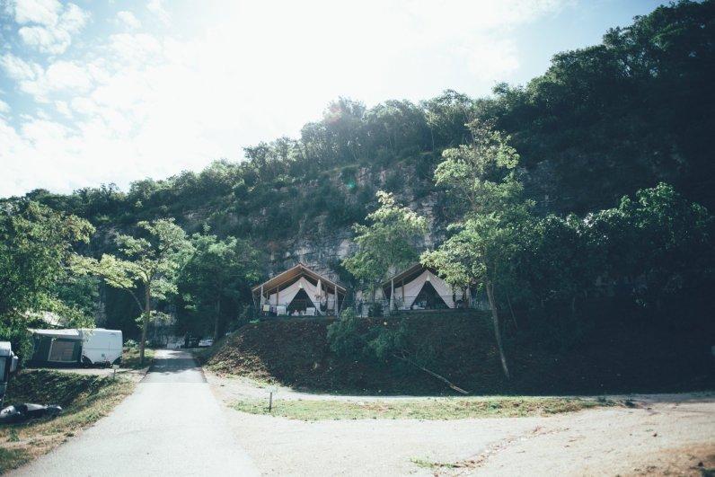Glamping auf dem Campingplatz Lanterna in Istrien