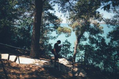 Thies und Neon auf dem Campingplatz Lanterna in Istrien