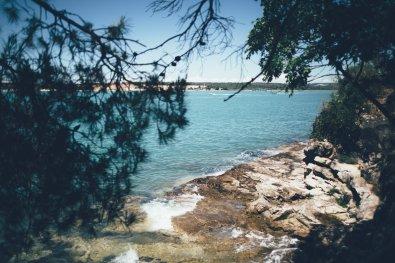 Das Meer am Campingplatz Lanterna in Istrien