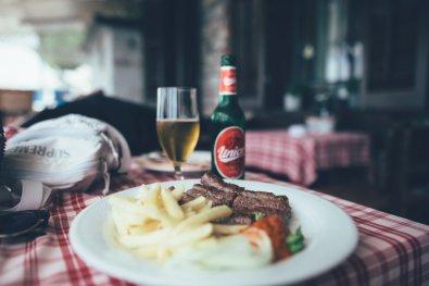 Essen in Piran, Slowenien