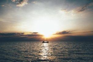 Piran bei Sonnenuntergang