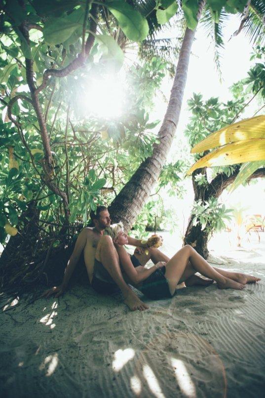 Thies und Mia Velassaru Maldives
