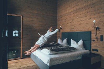 Bett im Masterbedroom